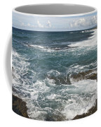 Waves Breaking On Shore  7918 Coffee Mug