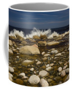 Waves Hitting Rocks, Anchor Brook Coffee Mug