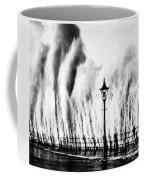 Waves Smashing Seawall, 1938 Coffee Mug