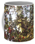 Wax Wing In A Berry Tree  Coffee Mug