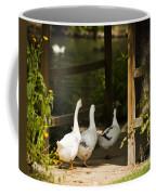We Three Walk In A Row Coffee Mug