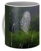 Web Over Foggy Lake Coffee Mug