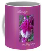 Wedding Blessings Greeting Card - Columbine Blossom Coffee Mug