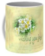Wedding Wishing You Joy Greeting Card - Wildflower Multiflora Roses Coffee Mug
