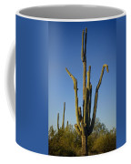 Weird Giant Saguaro Cactus With Blue Sky Coffee Mug