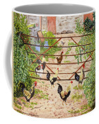 Welsh Farm Cockerels On Patrol Coffee Mug