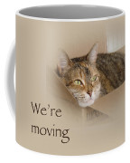 We're Moving Notification Greeting Card - Lily The Cat Coffee Mug