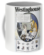 Westinghouse Ad, 1924 Coffee Mug