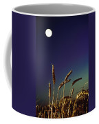 Wheat Field At Night Under The Moon Coffee Mug