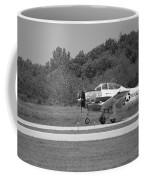 Wheels Up Black And White Coffee Mug