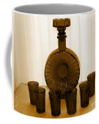 Whiskey Decanter In Sepia Coffee Mug