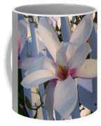 White And Pink Magnolia Coffee Mug