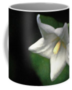 White Balloon Flower-faux Painting Coffee Mug