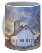White Barn Sunrise Coffee Mug