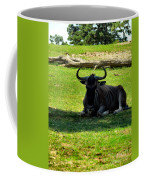 White Bearded Gnu Coffee Mug