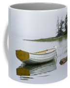 White Boat On A Misty Morning Coffee Mug