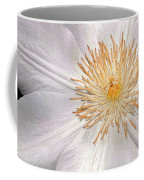 White Clematis Coffee Mug
