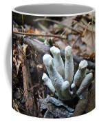 White Club Mushroom - Clavulina  Coffee Mug