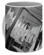 White  Cotton Laundry Blowing In The Wind Coffee Mug