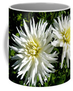 White Dahlias In Autumn  Coffee Mug