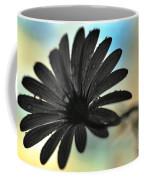 White Daisy Silhouette Coffee Mug