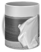 White Flag In Black And White Coffee Mug