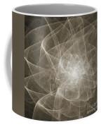 White Fractal Flower Coffee Mug