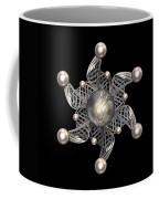White Gold And Pearls Coffee Mug by Hakon Soreide