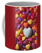 White Heart Candy Coffee Mug