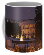 White House, From Elipse At Christmas Coffee Mug