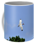 White Ibis In Flight Coffee Mug