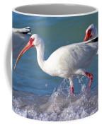 White Ibis On The Shore Coffee Mug