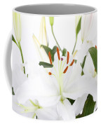White Lilies And Background Coffee Mug