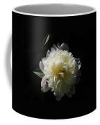 White On Black Peony Coffee Mug