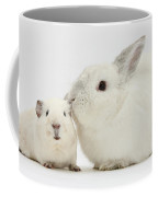 White Rabbit And White Guinea Pig Coffee Mug