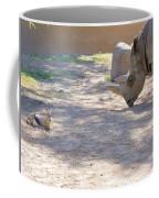 White Rhino And Ibex Coffee Mug
