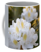White Rhododendron Bloom Coffee Mug