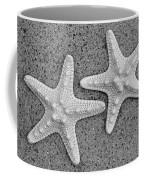 White Starfish In Blackaand White Coffee Mug