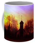 White Swan Church In The Sunset Coffee Mug