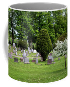 White Tree In Cemetery Coffee Mug