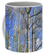 White Trees Against A Blue Sky Coffee Mug