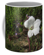 Small White Morning Glory Coffee Mug