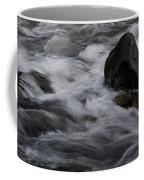 White Water Rushes Over Rocks Coffee Mug