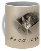 Who Even Are You - Lily The Cat Coffee Mug