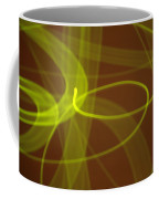 Wide Bands Of Soft Green Light Curve Around Each Other Coffee Mug