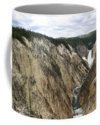 Wide View Of The Lower Falls In Yellowstone Coffee Mug