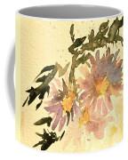 Wild Asters Aged Look Coffee Mug