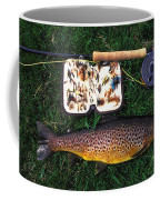 Wild Brown Trout And Fishing Rod Coffee Mug