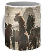 Wild Horse Battle Coffee Mug