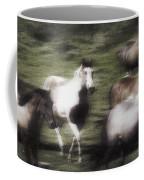 Wild Horses On The Move Coffee Mug
